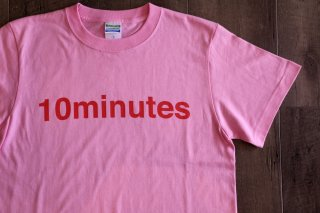 10minutes / Logo Tee 【Pink / Red】