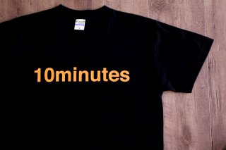 10minutes / Logo Tee 【Black / Orange】
