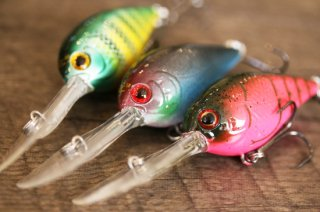 Luck E Strike / Rick Clunn Freak Crankbait Series 2