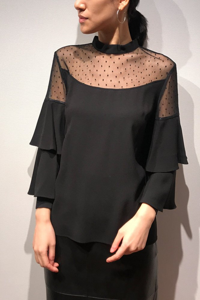 <img class='new_mark_img1' src='https://img.shop-pro.jp/img/new/icons20.gif' style='border:none;display:inline;margin:0px;padding:0px;width:auto;' />70%OFF DOT LACE DOUBLE SLEEVE TOPS