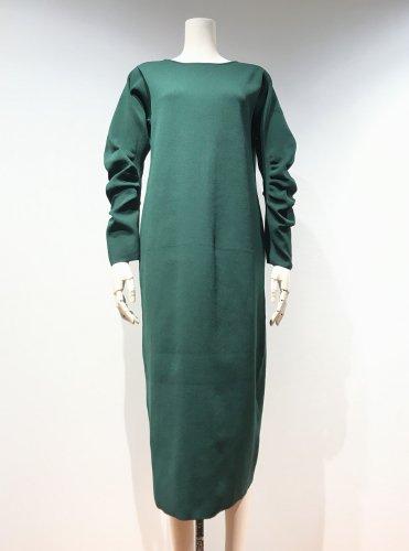 【LAST ONE】 CURVE-SLEEVE LACE-UP DRESS