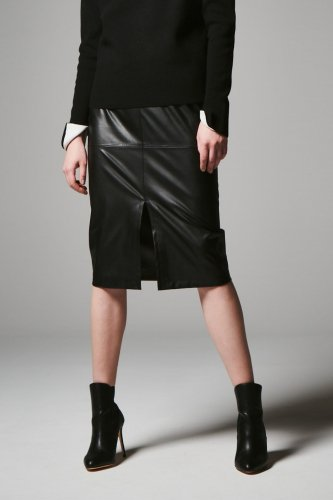 ECO-LETHER F/SLIT TIGHT SKIRT