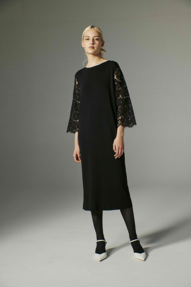 CHANSON/LACE SLEEVE  DRESS