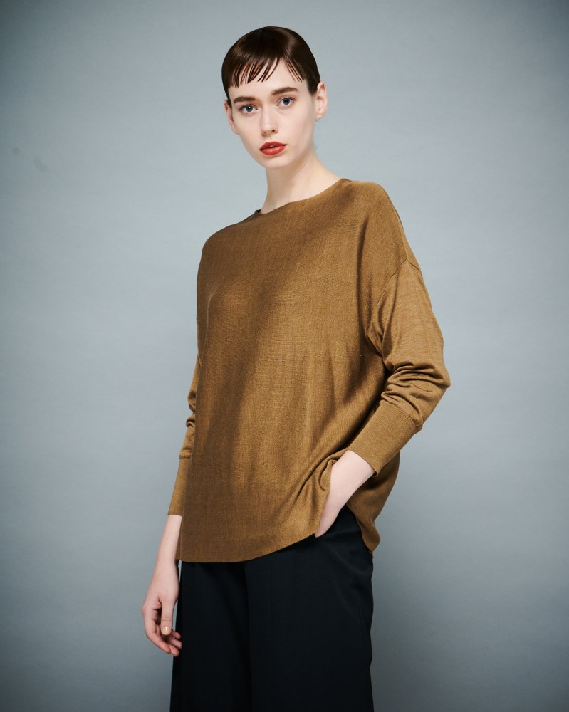 <img class='new_mark_img1' src='https://img.shop-pro.jp/img/new/icons2.gif' style='border:none;display:inline;margin:0px;padding:0px;width:auto;' />【予約】SILK VERTICAL DOLMAN KNIT