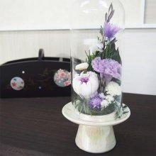 プリザーブドガラスドーム型仏花 SBO-04