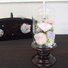プリザーブドガラスドーム型仏花 SBO-02