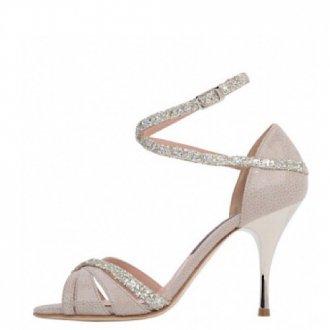 EMILY W_F  Stamp Grey Beige x Glitter Silver