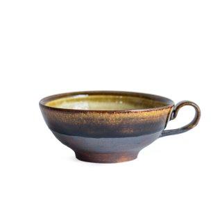 阿久津 雅土  スープカップ 飴釉