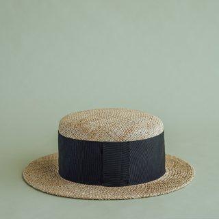 Pois E ポイゼ 帽子 VIOLA NATURAL/BLACK