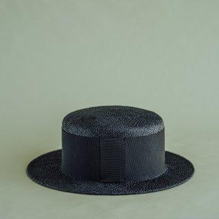 Pois E ポイゼ 帽子 VIOLA BLACK/BLACK