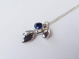 <center><b>Little Stream</b><br>Silver Necklace - Kyanite</center>