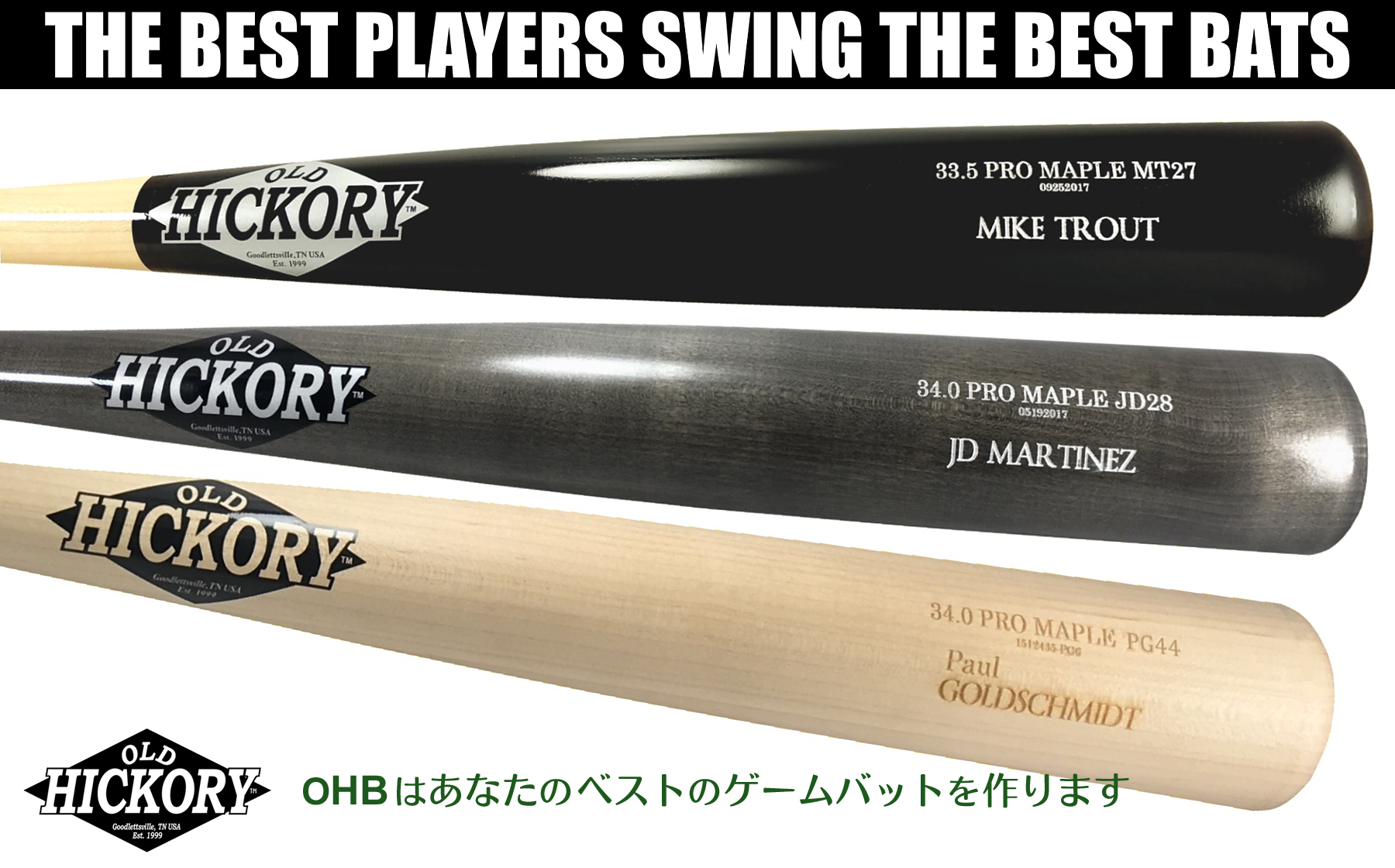 THE TOP PLAYERS SWING THE BEST BATS