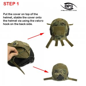 UR-TACTICAL OPS COMBAT HELMET COVER FOR OPSCORE BALLISTIC HIGH CUT