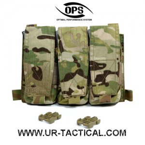 UR-TACTICAL OPS TRIPLE M4 MAG POUCH / PANEL