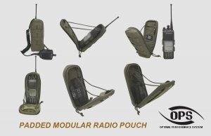 UR-TACTICAL OPS PADDED MODULAR RADIO POUCH