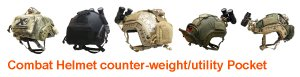 UR-TACTICAL OPS COMBAT HELMET COUNTER-WEIGHT/UTILITY POCKET
