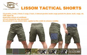 UR-TACTICAL OPS LISSOM TACTICAL SHORTS