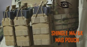 UR-TACTICAL OPS SHINGLE SINGLE M4/AK MAGAZINE POUCH
