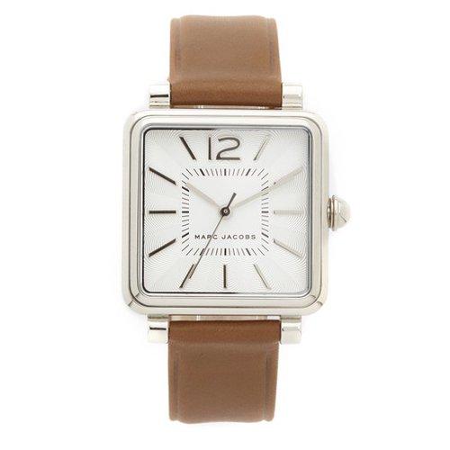 マークジェイコブス 時計 ビック MJ1436 シルバー×ブラウンレザーベルト
