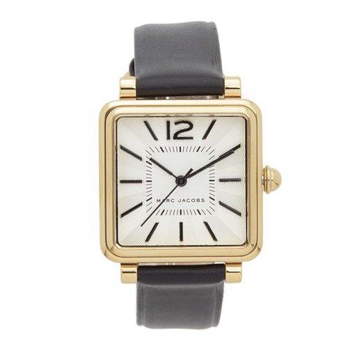 マークジェイコブス 時計 ビック MJ1437 シルバー×ブラックレザーベルト