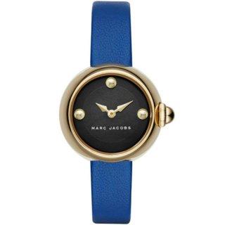 マークジェイコブス 時計 コートニー MJ1434 ブラックマザーオブパール×ブルーレザーベルト