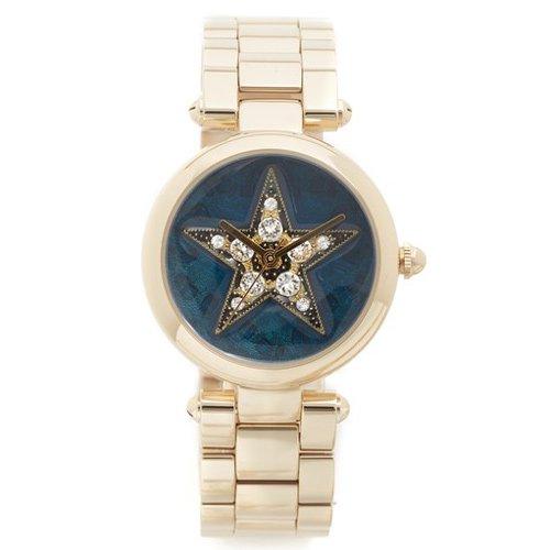 マークジェイコブス 時計 ドッティー MJ3478 ブルー×ゴールド クリスタルスタッズ×スター