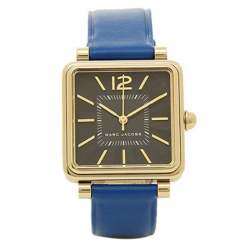 マークジェイコブス 時計 ビック MJ1438 ブラック×ブルーレザーベルト