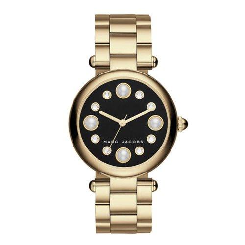 マークジェイコブス 時計 ドッティー MJ3486 ブラック×ゴールド×クリスタル×パール