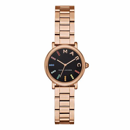 マークジェイコブス 時計/MJ3569/クラシックウォッチ/ブラック×ピンクゴールド