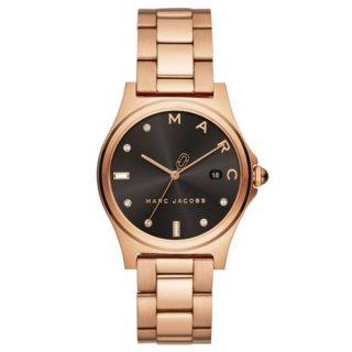 マークジェイコブス/Marc Jacobs/腕時計/ユニセックス/MJ3600/HENRY/ヘンリー/36ミリ/クォーツ/ブラック×ローズゴールド