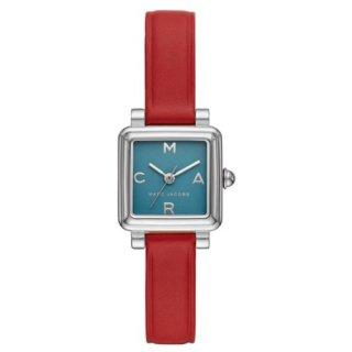 マークジェイコブス/Marc Jacobs/腕時計/レディース/VIC/ビック/MJ1637/クォーツ/20ミリスクエアケース/ブルー×レッド/日本未発売モデル