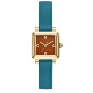 マークジェイコブス/Marc Jacobs/腕時計/レディース/VIC/ビック/MJ1639/クォーツ/20ミリスクエアケース/ブラウン×ブルー/日本未発売モデル