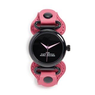 マークジェイコブス/Marc Jacobs/腕時計/レディース/M8000731/ザ カフ ウォッチ/ブラック×ピンク