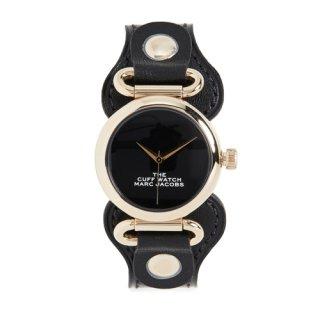 マークジェイコブス/Marc Jacobs/腕時計/レディース/M8000729/ザ カフ ウォッチ/ブラック×ブラック/ゴールド