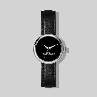 マークジェイコブス/Marc Jacobs/腕時計/レディース/M8000727-004/ザ ラウンド ウォッチ/ブラック×ブラック/シルバー