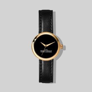 マークジェイコブス/Marc Jacobs/腕時計/レディース/M8000727-003/ザ ラウンド ウォッチ/ブラック×ブラック/ゴールド