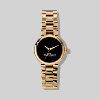 マークジェイコブス/Marc Jacobs/腕時計/レディース/M8000726-711/ザ ラウンド ウォッチ/ブラック×ゴールド