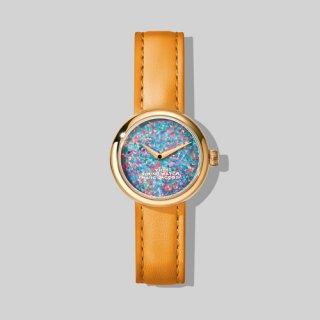 マークジェイコブス/Marc Jacobs/腕時計/レディース/M8000728-802/ザ ラウンド ウォッチ/オパール×オレンジ