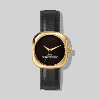 マークジェイコブス/Marc Jacobs/腕時計/レディース/M8000733-003/ザ クッション ウォッチ/ブラック×ブラック/ゴールド