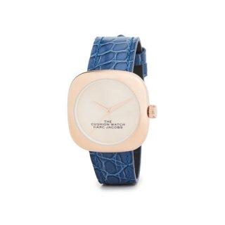 マークジェイコブス/Marc Jacobs/腕時計/レディース/M8000733/ザ クッション ウォッチ/ローズゴールド×ブルー