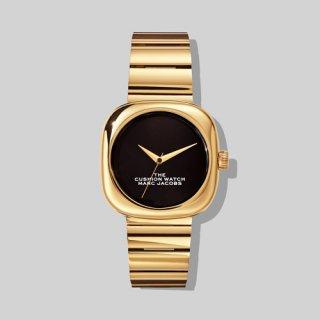 マークジェイコブス/Marc Jacobs/腕時計/レディース/M8000732-711/ザ クッション ウォッチ/ブラック×ゴールド