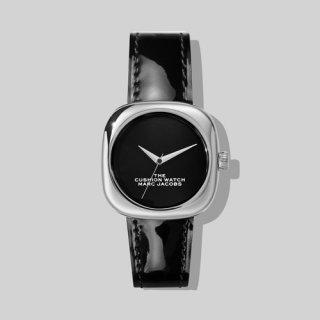 マークジェイコブス/Marc Jacobs/腕時計/レディース/M8000733-004/ザ クッション ウォッチ/ブラック×ブラック/シルバー