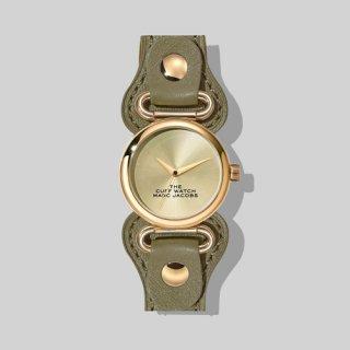 マークジェイコブス/Marc Jacobs/腕時計/レディース/M8000729/ザ カフ ウォッチ/ゴールド×カーキ