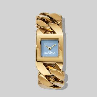 マークジェイコブス/Marc Jacobs/腕時計/レディース/M8000735/ザ チェーン ウォッチ/ブルー×ゴールド