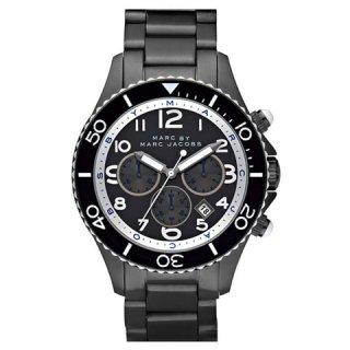 マークジェイコブス メンズ腕時計/ロック/MBM5025/ブラック×ガンメタル