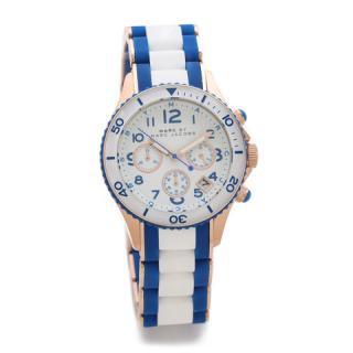 マークジェイコブス 時計 ロック MBM2594 ホワイト×ブルー