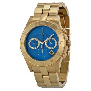 マークバイマークジェイコブス 時計/ブレード/MBM3307/ブルー×ゴールド