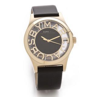 マークバイマークジェイコブス 時計/ヘンリースケルトン/MBM1246/ゴールド×ブラックレザー