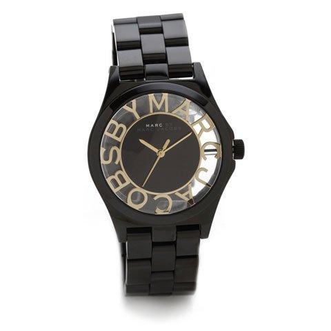 マークジェイコブス 時計/ヘンリースケルトン/MBM3255/ゴールド×ブラック