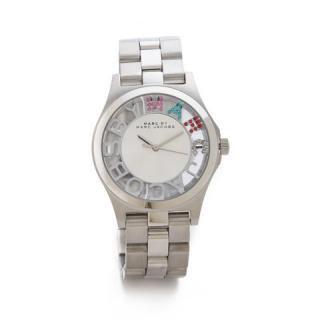 マークジェイコブス 時計/ヘンリースケルトン/MBM3262/シルバー×クリスタルストーン